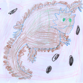 This is a drawing of the horned lizard.