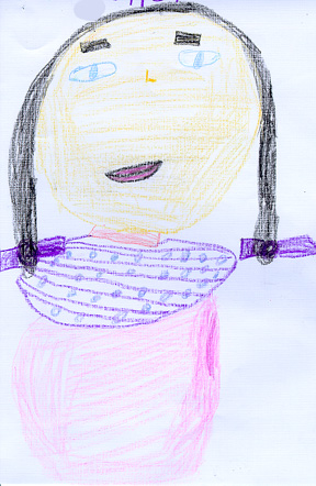 This is a drawing of Manuela