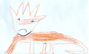 This is a drawing of the horned lizard