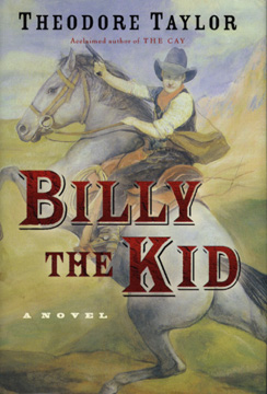 The book jacket shows Billy the Kid riding his horse and brandishing a pistol.
