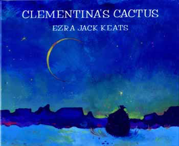 The book jacket shows a desert scene with a slice of moon and a cactus.