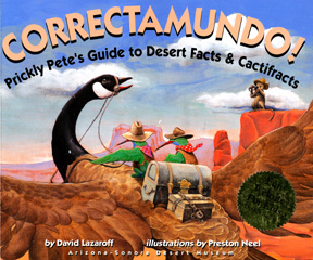 This book jacket shows some of the desert animals that are explored in the book.