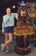This is a photograph of Tracy at Knott's Berry Farm.