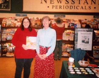 A photo of Susan Lowell and myself at a book signing in Borders Bookstore