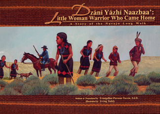 The book jacket shows a U.S. soldier wtih Navajo children.