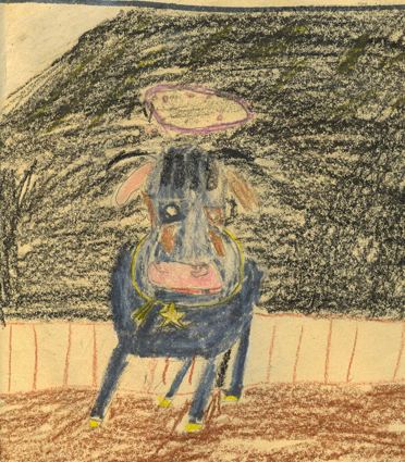 Ulysses'  drawing of the Godfairy cow