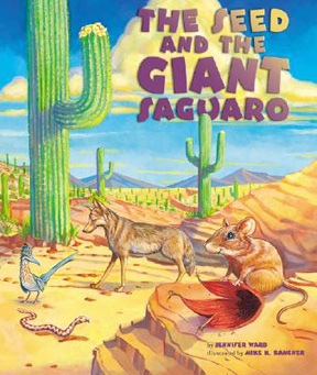 The book jacket shows a picture of a coyote chasing a roadrunner, chasing a rattlesnake, chasing a pack rat, eating a saguaro fruit.