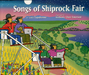 book jacket shows people on ferriswheel