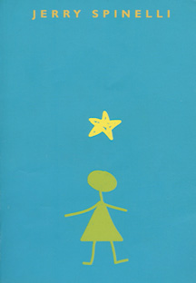 The book jacket shows a stick figure girl with a yellow star over her head.