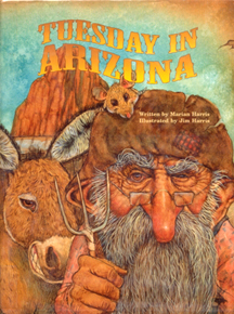 The book jacket shows a gold prospector and his donkey.